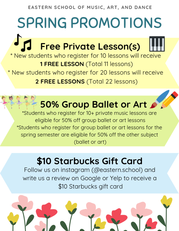 2019 Spring Promotions – Eastern School